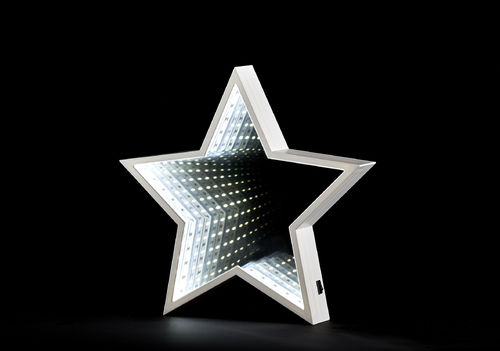 Plastic infinity star white SMD