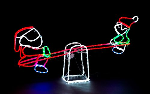 LED Santa and snowman Seesaw